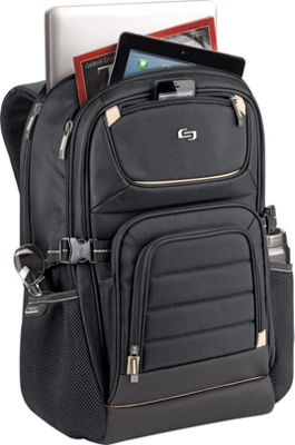 SOLO Pro 17.3 inch Laptop Backpack Black - SOLO Business & Laptop Backpacks