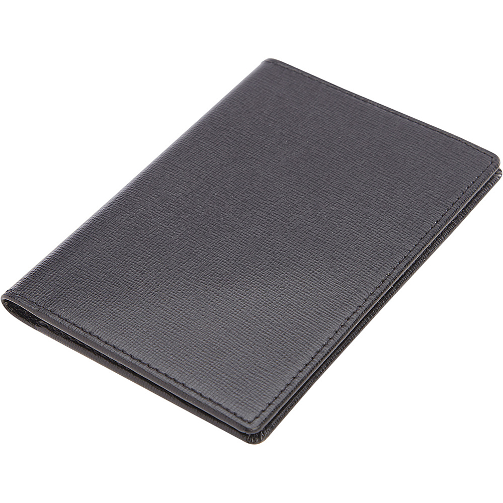 Royce Leather RFID Blocking Saffiano Passport Document Wallet Black Royce Leather Women s Wallets