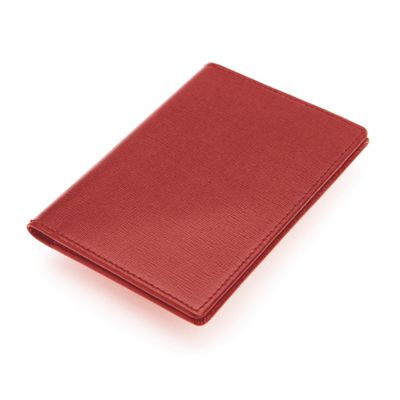 Royce Leather RFID Blocking Saffiano Passport Document Wallet Red - Royce Leather Women's Wallets