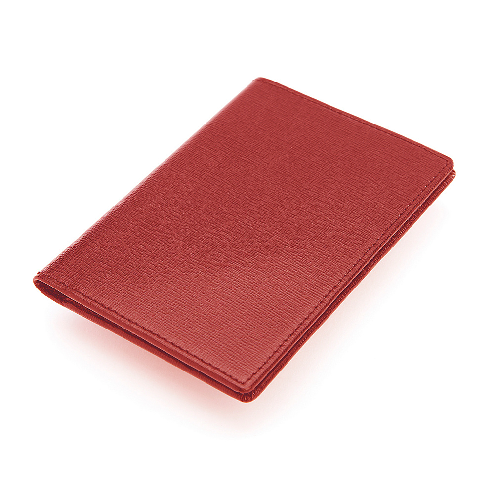 Royce Leather RFID Blocking Saffiano Passport Document Wallet Red Royce Leather Women s Wallets