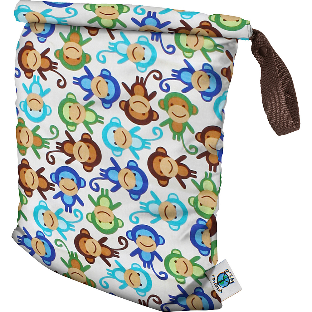 Planet Wise Medium Roll Down Wet Bag Monkey Fun Planet Wise Diaper Bags Accessories
