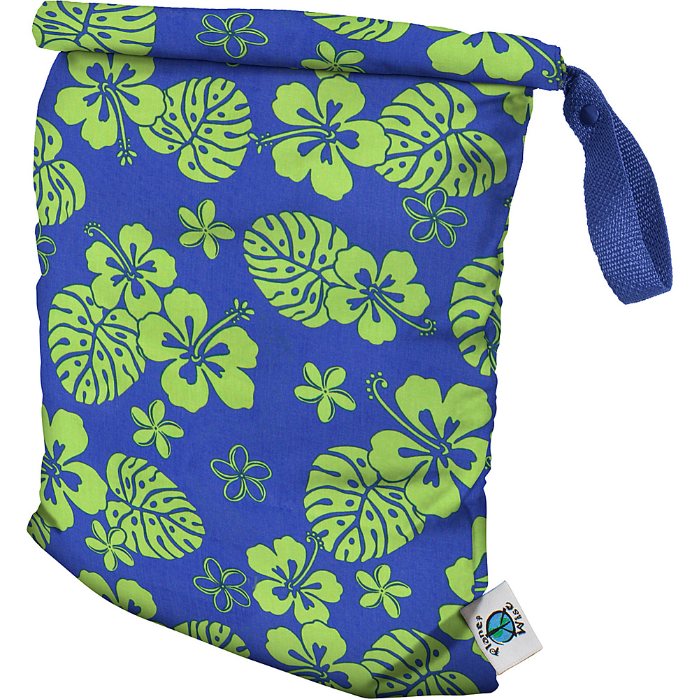 Planet Wise Medium Roll Down Wet Bag Blue Hawaii Planet Wise Diaper Bags Accessories