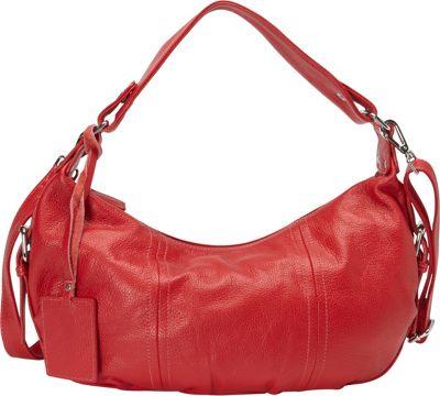 Donna Bella Designs Alexis Hobo Red - Donna Bella Designs Leather Handbags