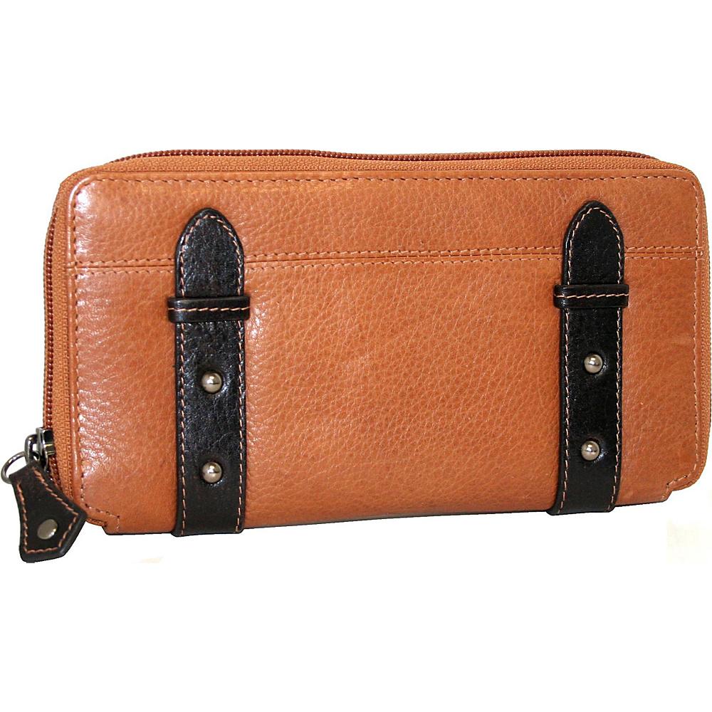 Nino Bossi My Zip Around Wallet Cognac Nino Bossi Women s Wallets