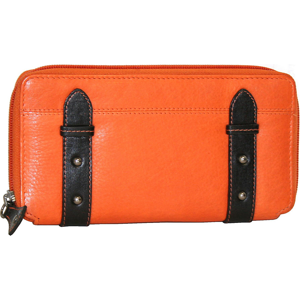Nino Bossi My Zip Around Wallet Orange Nino Bossi Women s Wallets