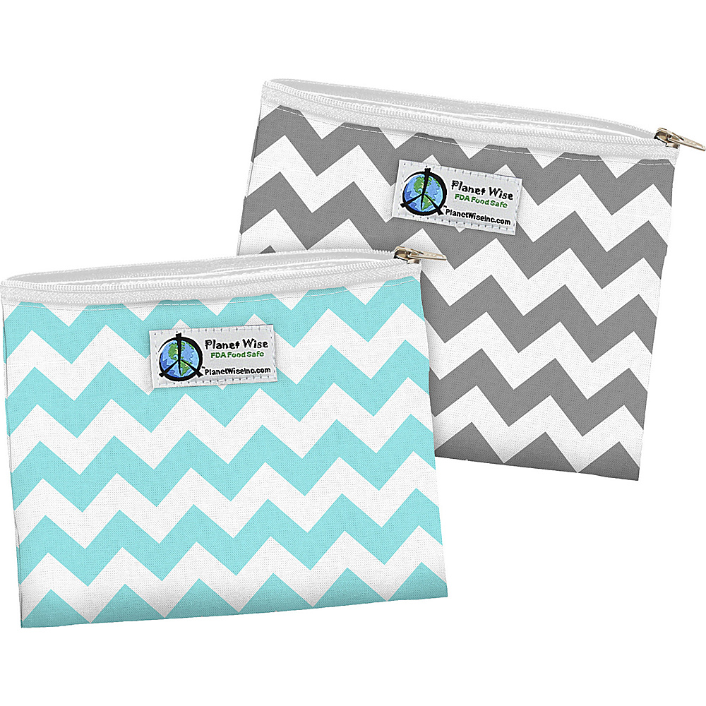 Planet Wise Zipper Sandwich Bag 2 Pack Teal Chevron Gray Chevron Planet Wise Travel Coolers