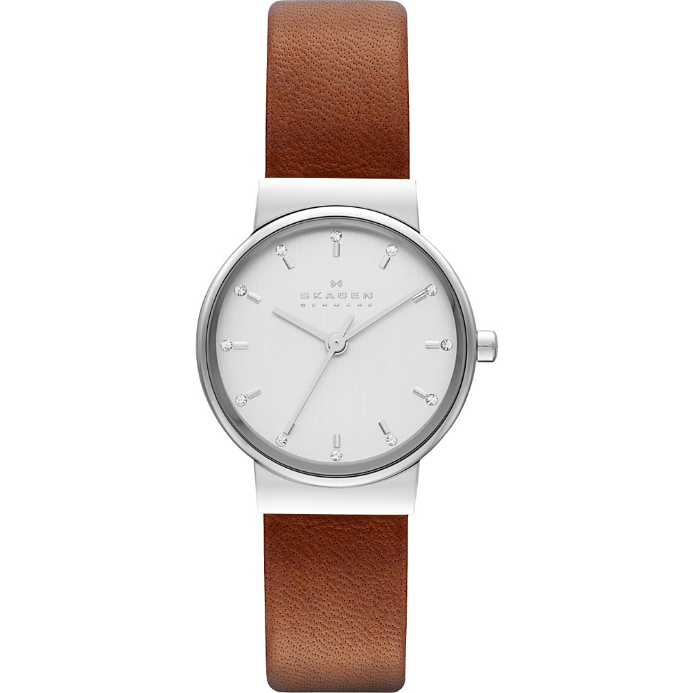 Skagen Ancher Watch Brown with Silver Skagen Watches