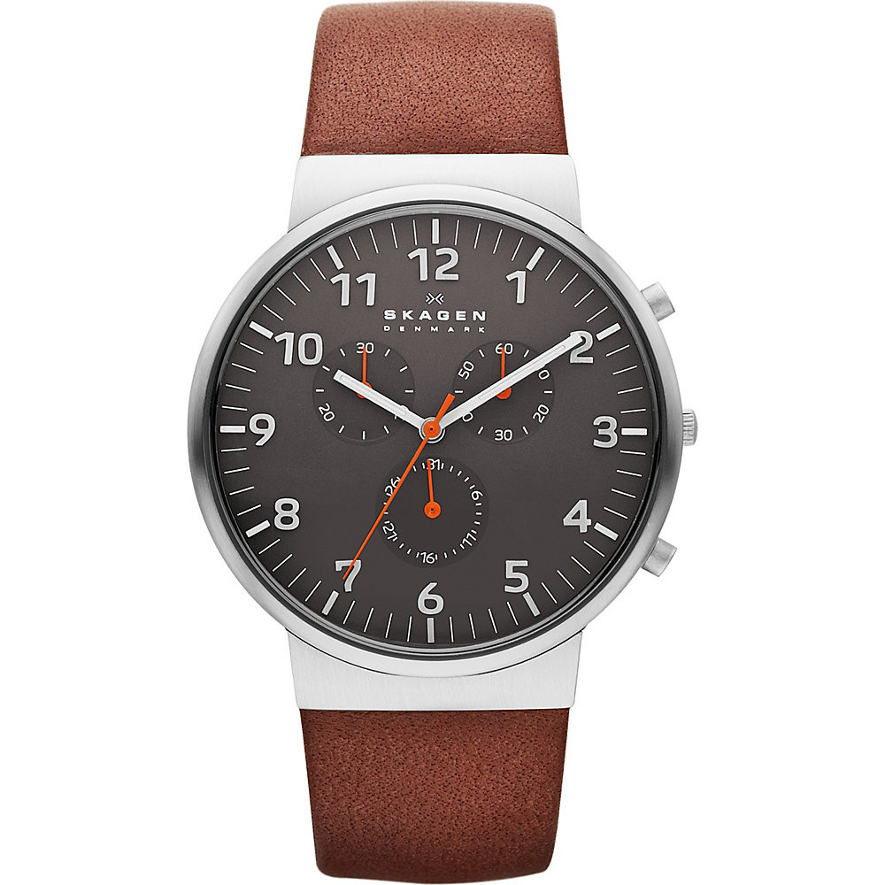Skagen Ancher Watch Brown with Black Chronograph Skagen Watches