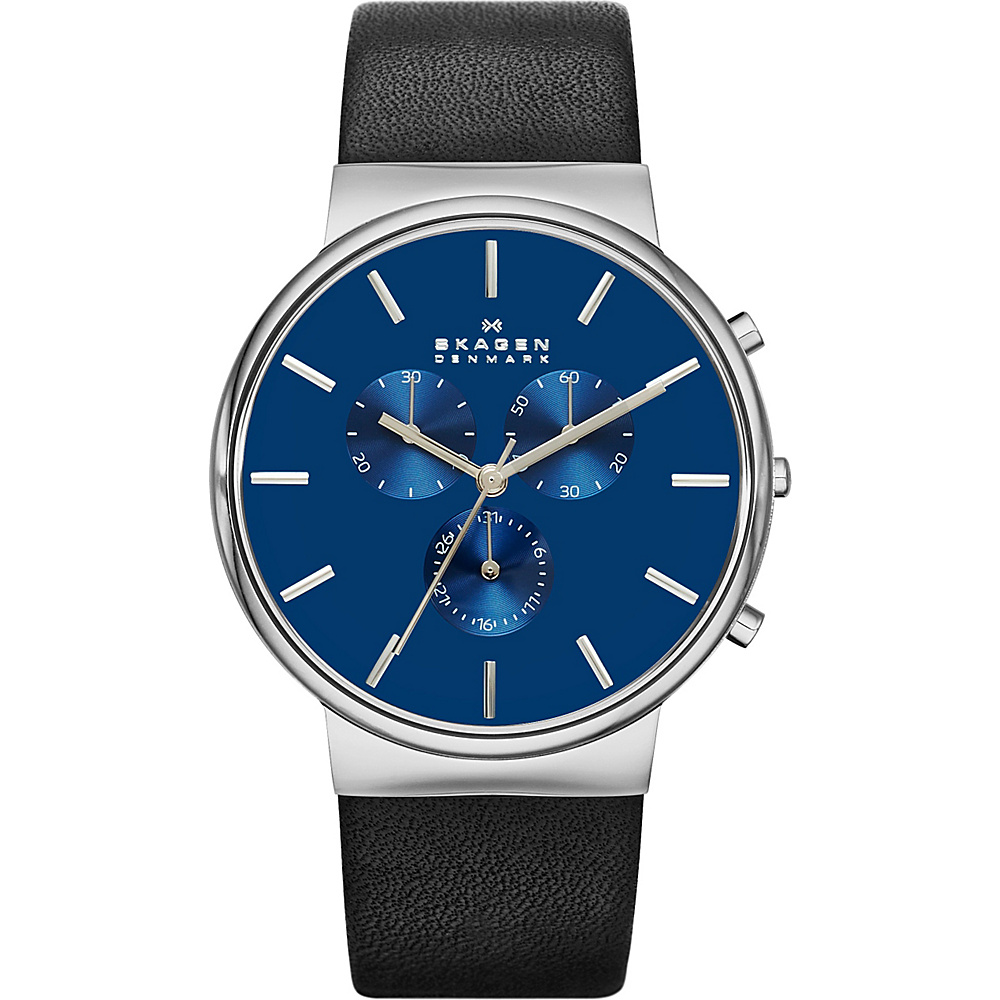Skagen Ancher Watch Black with Blue Chronograph Skagen Watches