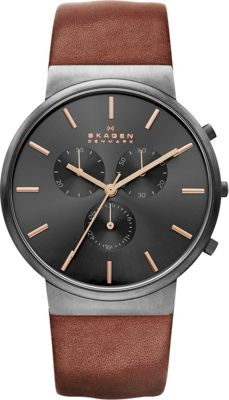 Skagen Ancher Watch Brown with Grey Chronograph - Skagen Watches