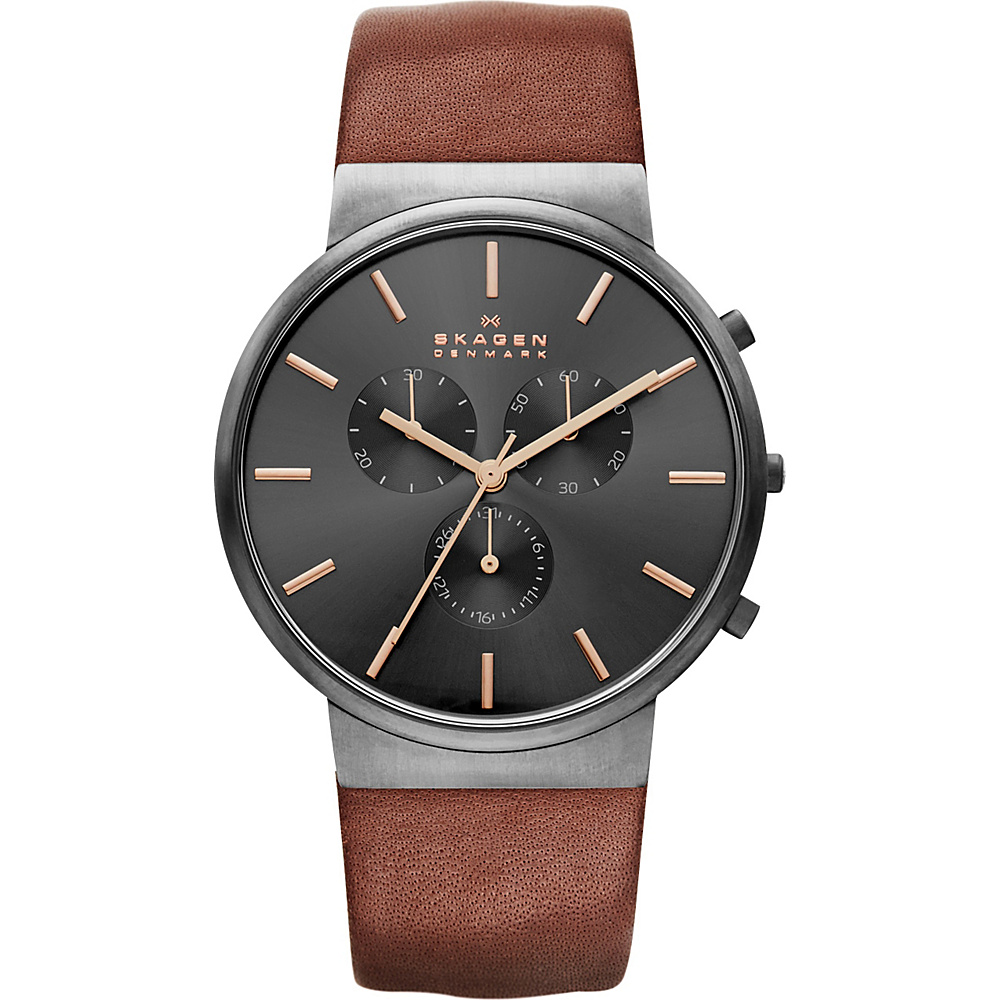 Skagen Ancher Watch Brown with Grey Chronograph Skagen Watches