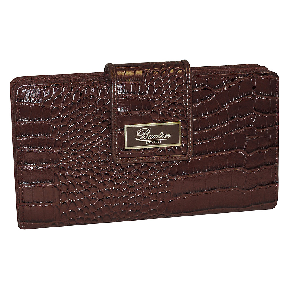 Buxton Heritage Superwallet Brown Buxton Women s Wallets