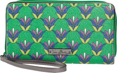 Vera Bradley Large Zip-Around Wallet Emerald Diamonds - Vera Bradley Ladies Small Wallets