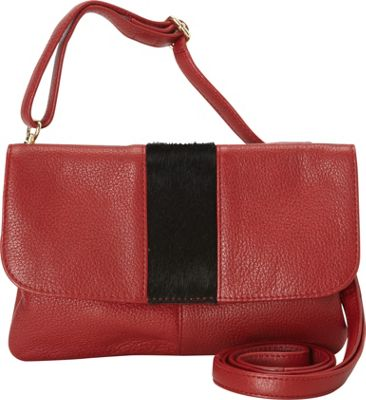 Latico Leathers Miller Crossbody Black on Red - Latico Leathers Leather Handbags