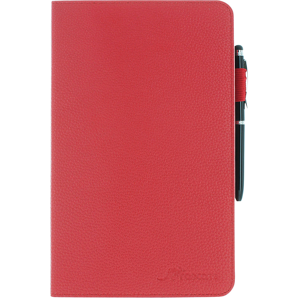 rooCASE Dual View Folio Case Cover with Stylus for Samsung Galaxy Tab S 8.4 SM T700 Red rooCASE Electronic Cases