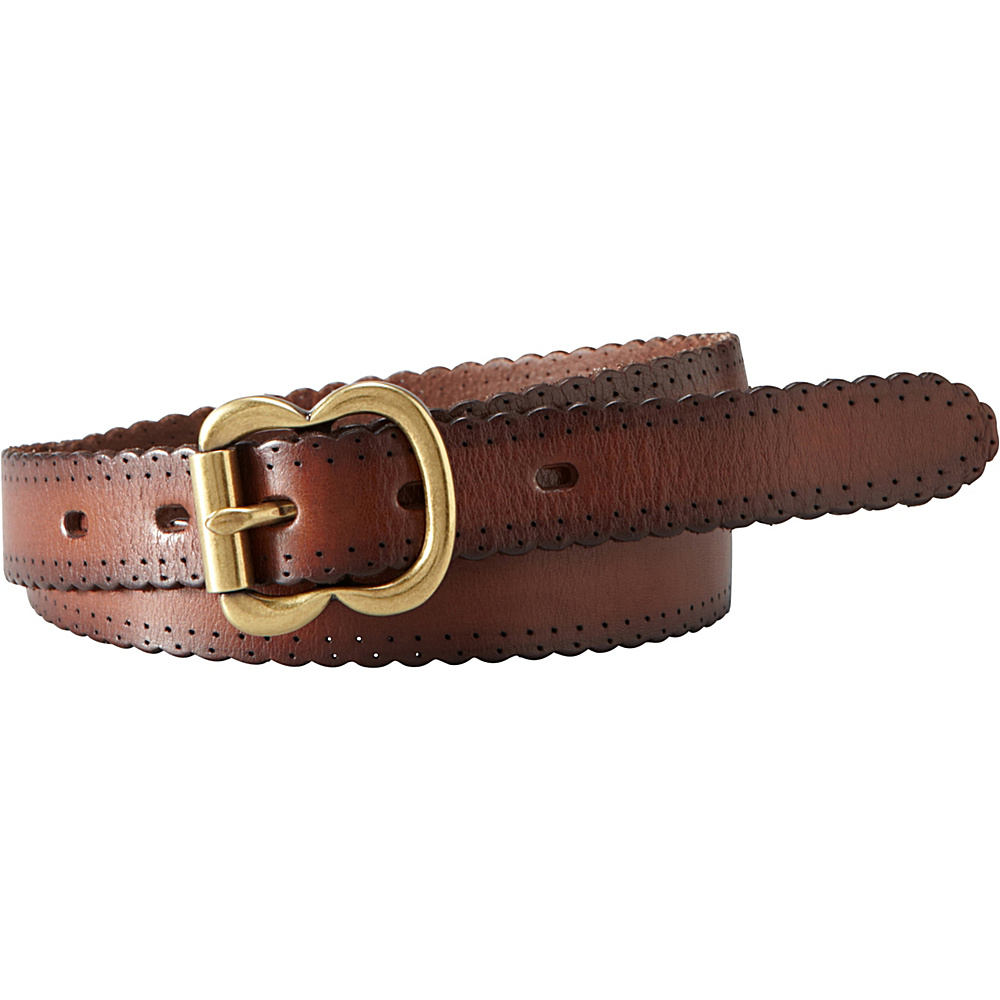 Fossil Scallop Jean Belt M - Brown - Fossil Other Fashion Accessories - Fashion Accessories, Other Fashion Accessories