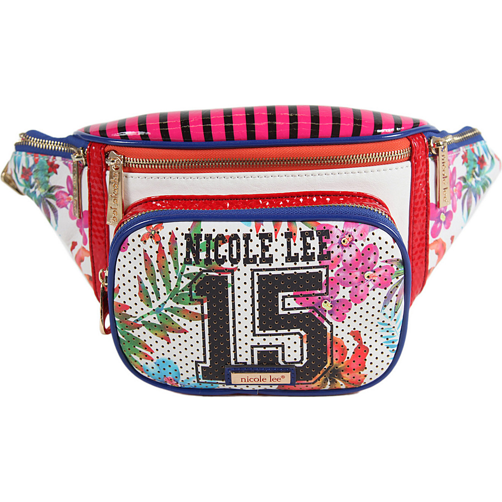 Nicole Lee Numeric 15 Print Belt Bag White Nicole Lee Waist Packs