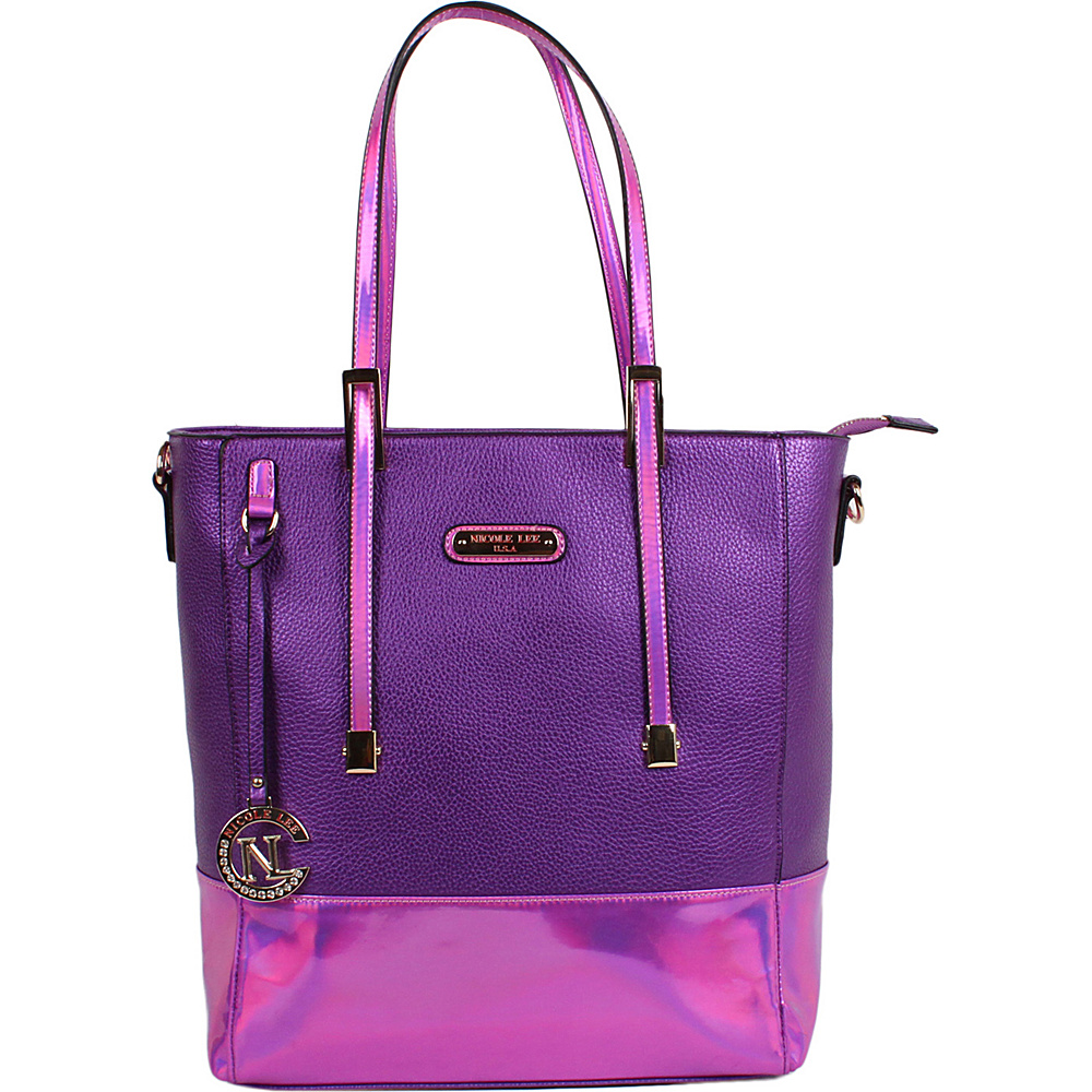 Nicole Lee Sian Hologram Shopper Bag Purple - Nicole Lee Manmade Handbags