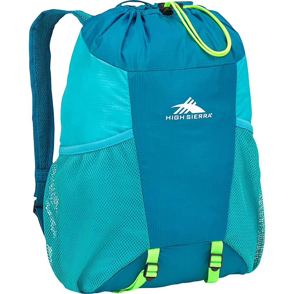 High Sierra 15L Packable Backpack In A Bottle SEA/TROPIC TEAL/ZEST - High Sierra Packable Bags