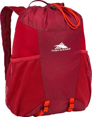 High Sierra 15L Packable Backpack In A Bottle BRICK RED/CARMINE/RED LINE - High Sierra Lightweight packable expandable bags