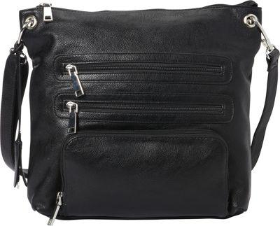 La Diva RFID Cena Crossbody - Exclusive Black - La Diva Manmade Handbags