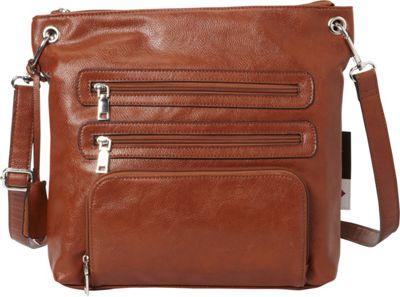La Diva RFID Cena Crossbody - Exclusive Cognac - La Diva Manmade Handbags