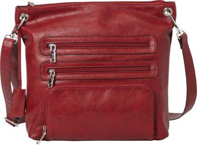 La Diva RFID Cena Crossbody - Exclusive Red - La Diva Manmade Handbags