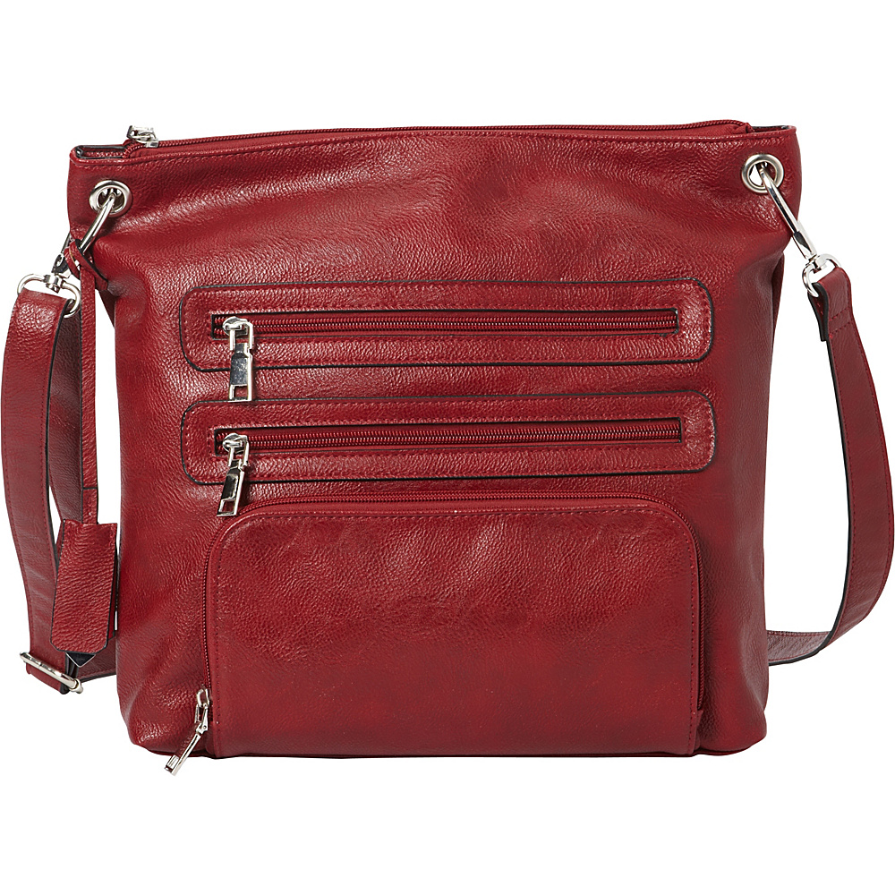 La Diva RFID Cena Crossbody Exclusive Red La Diva Manmade Handbags