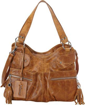 Vicenzo Leather Athena Italian Leather Handbag Tan - Vicenzo Leather Leather Handbags