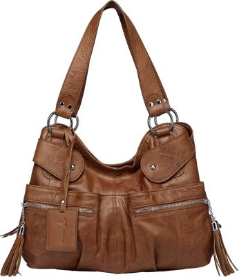 Vicenzo Leather Athena Italian Leather Handbag Dark Brown - Vicenzo Leather Leather Handbags