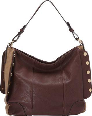 Donna Bella Designs Lauren Handbag Burgundy - Donna Bella Designs Manmade Handbags