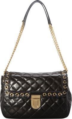 MICHAEL Michael Kors Hippie Grommet Sloan Large Shoulder Flap Black - MICHAEL Michael Kors Designer Handbags