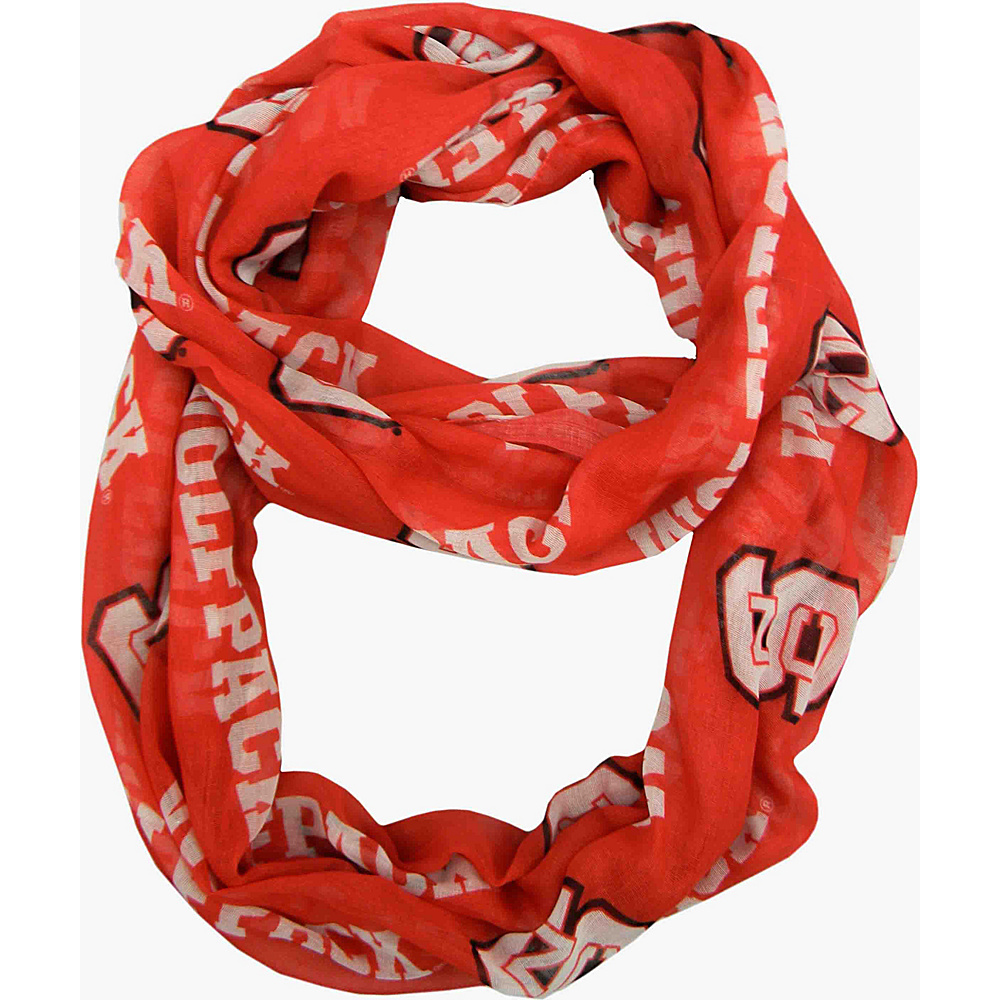 Littlearth Sheer Infinity Scarf - ACC Teams North Carolina State University - Littlearth Hats/Gloves/Scarves - Fashion Accessories, Hats/Gloves/Scarves