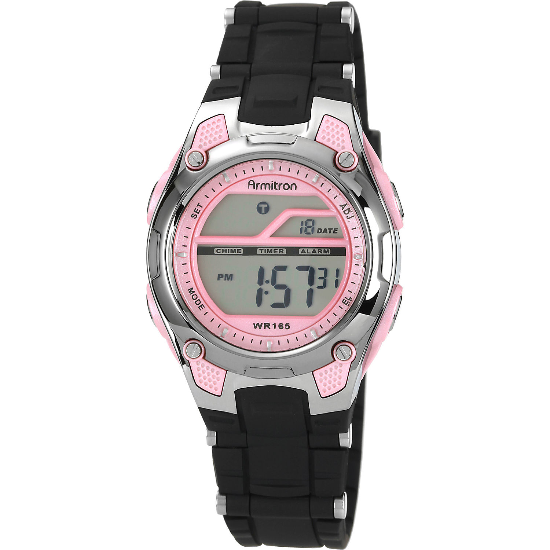 Armitron Ladies Black and Pink LCD Digital Watch - eBags.com