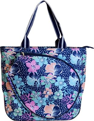 All For Color Tennis Tote Midnight Blooms - All For Color Racquet Bags