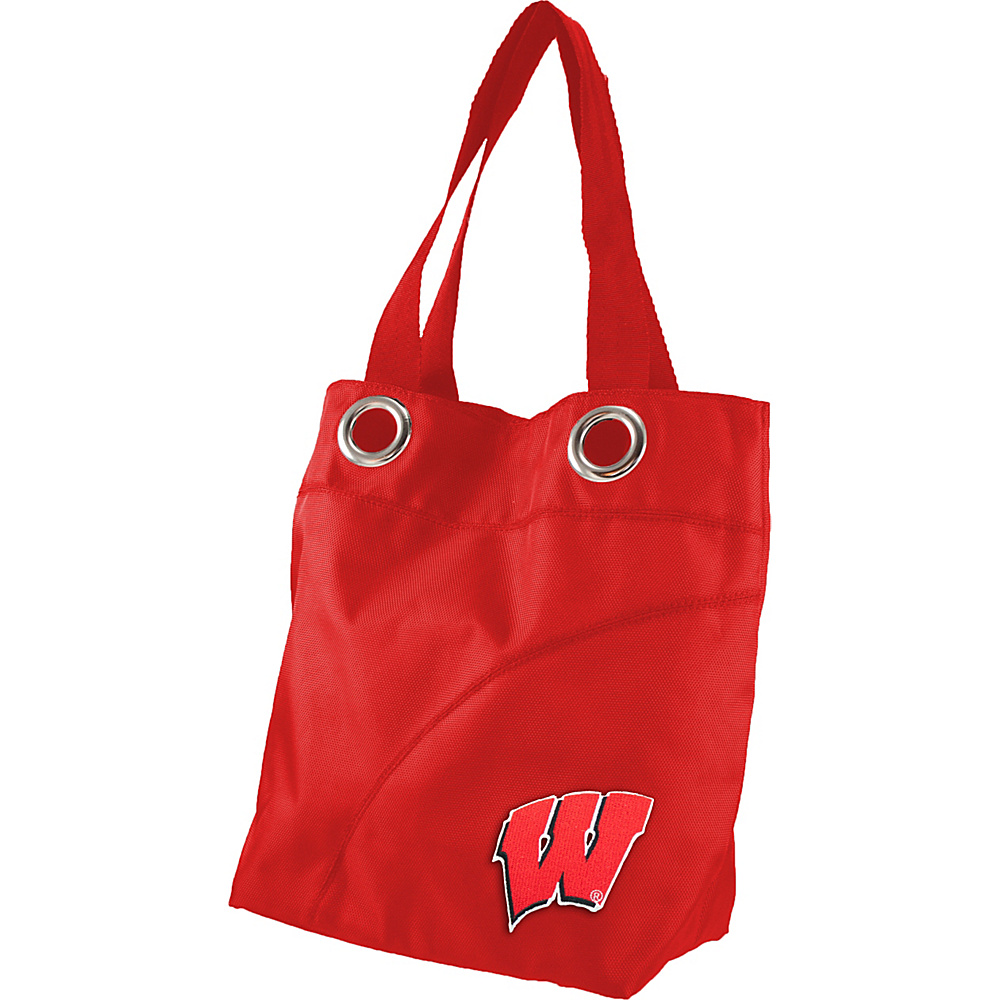 Littlearth Color Sheen Tote - Big Ten Teams Wisconsin, U of - Littlearth Fabric Handbags - Handbags, Fabric Handbags