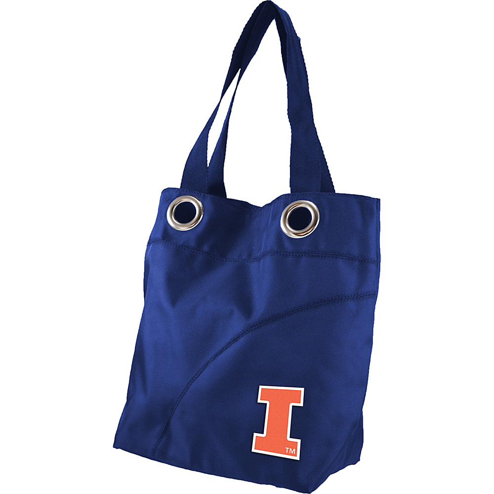 Littlearth Color Sheen Tote - Big Ten Teams Illinois, U of - Littlearth Fabric Handbags - Handbags, Fabric Handbags