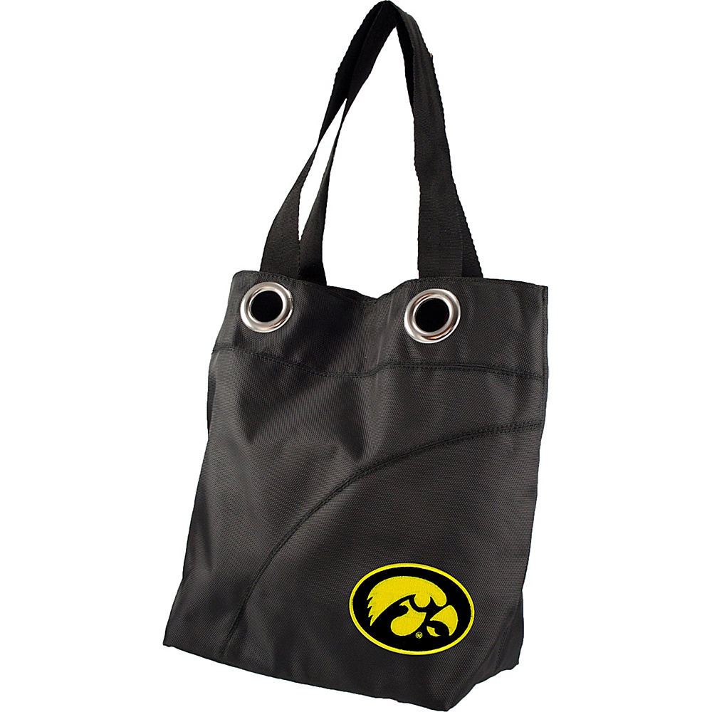 Littlearth Color Sheen Tote - Big Ten Teams Iowa, U of - Littlearth Fabric Handbags - Handbags, Fabric Handbags