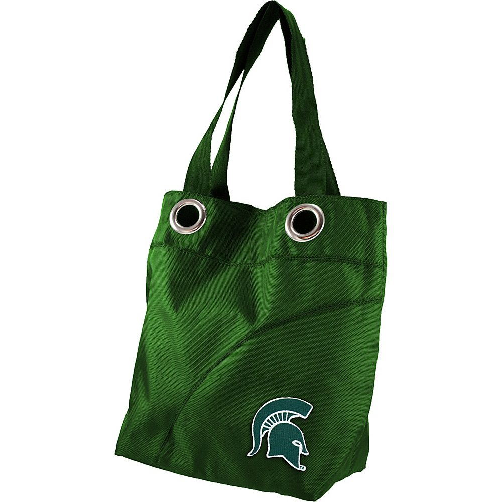 Littlearth Color Sheen Tote - Big Ten Teams Michigan State University - Littlearth Fabric Handbags - Handbags, Fabric Handbags
