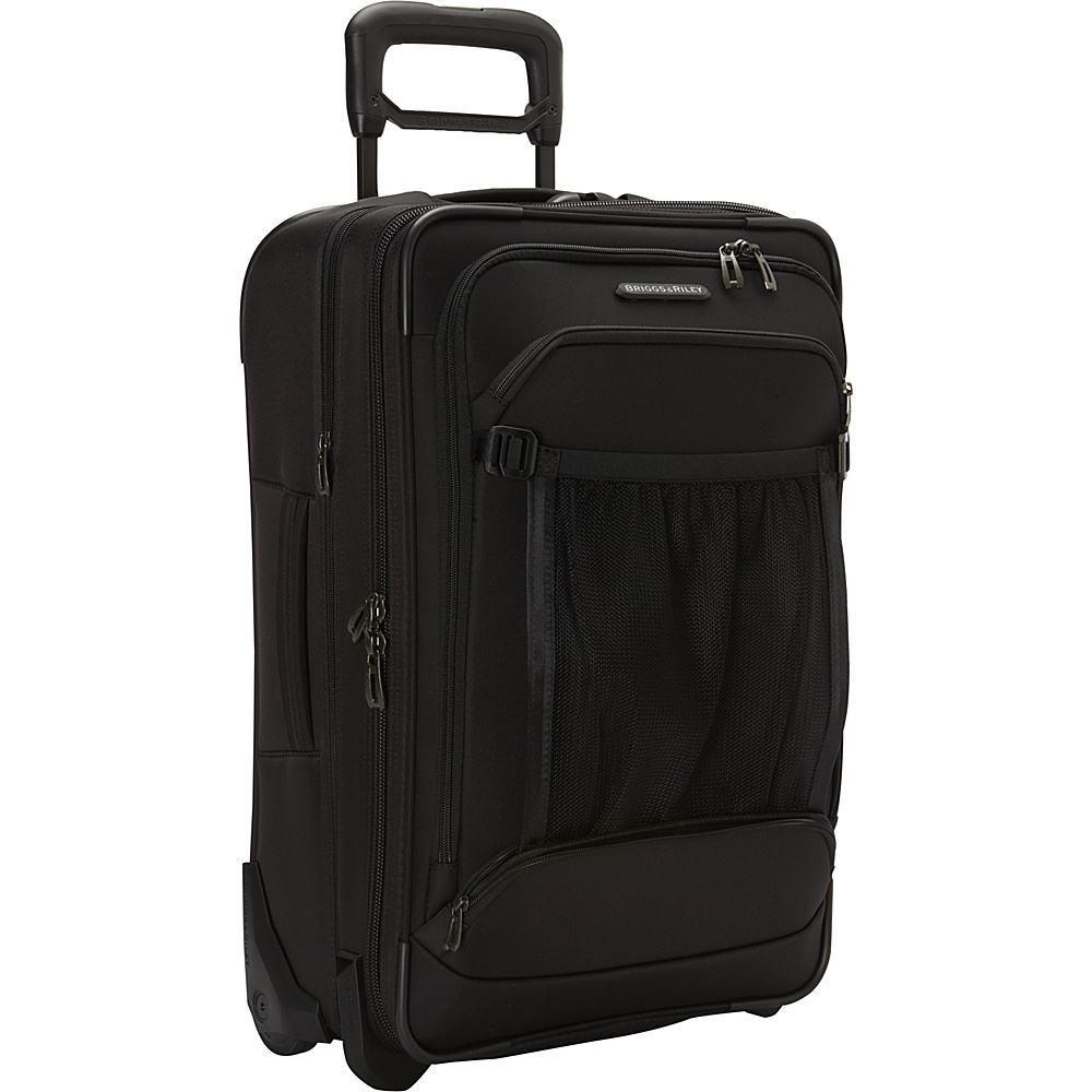 Briggs Riley Transcend 300 Domestic Carry On Expandable Upright Black Briggs Riley Softside Carry On