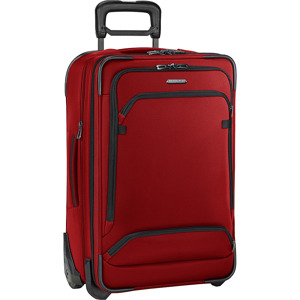 Briggs Riley Transcend 300 Domestic Carry On Expandable Upright Crimson Briggs Riley Softside Carry On