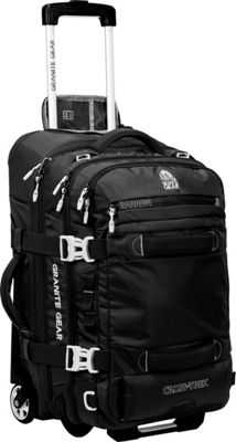 Granite Gear Cross-Trek 22 inch Wheeled Carry-On Duffel Black/Chromium - Granite Gear Softside Carry-On