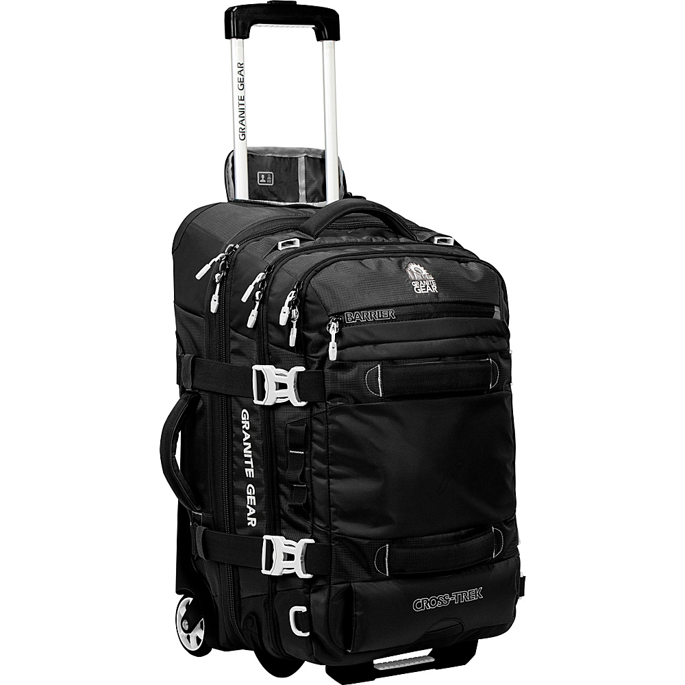Granite Gear Cross Trek 22 Wheeled Carry On Duffel Black Chromium Granite Gear Softside Carry On