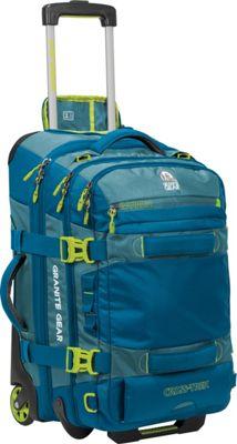 Granite Gear Cross-Trek 22 inch Wheeled Carry-On Duffel Bleumine/Blue Frost/Neolime - Granite Gear Softside Carry-On