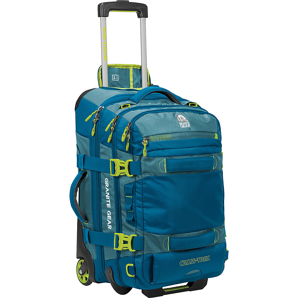 Granite Gear Cross Trek 22 Wheeled Carry On Duffel Bleumine Blue Frost Neolime Granite Gear Softside Carry On