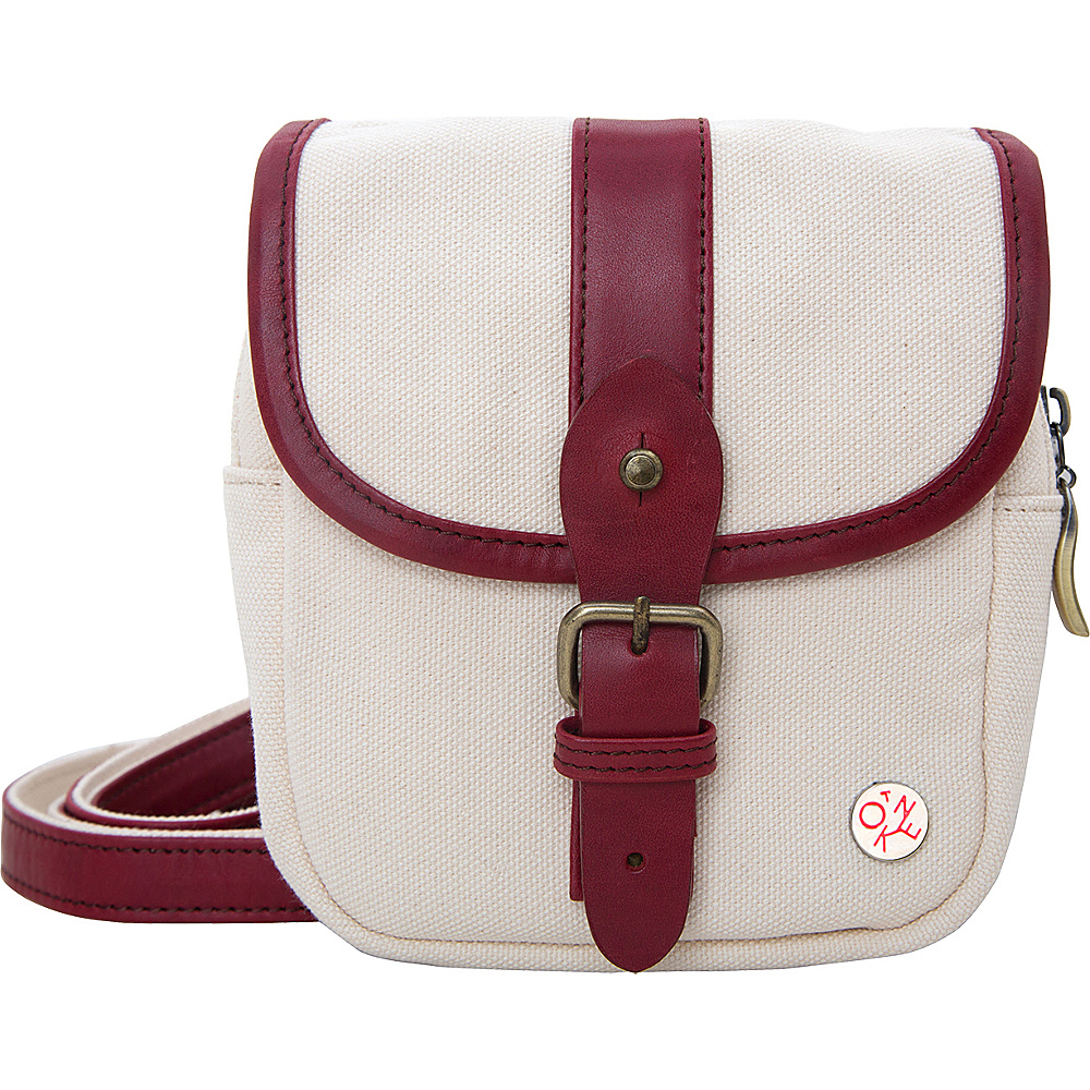 TOKEN Ft. Greene Organic Shoulder Bag Red - TOKEN Fabric Handbags