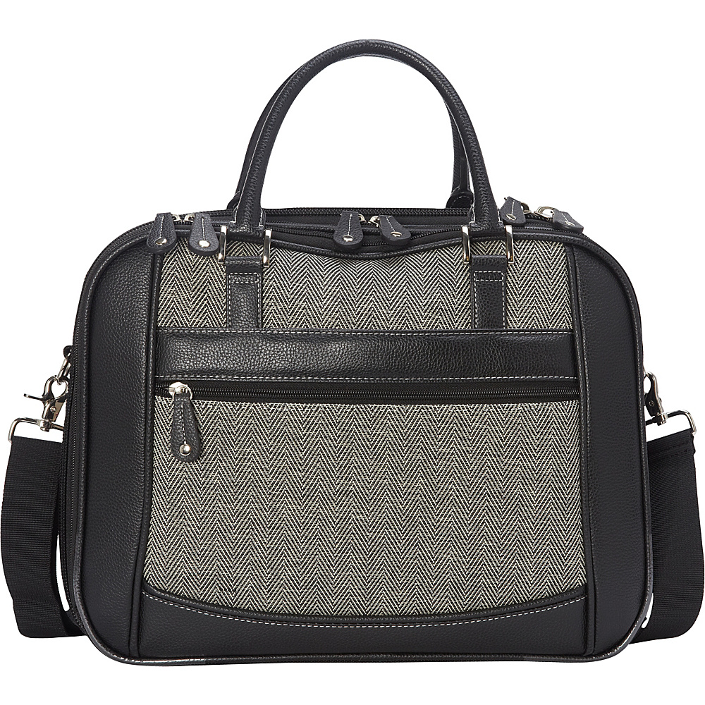 Mobile Edge Classic Herringbone ScanFast Checkpoint-Friendly Element Briefcase Small Herringbone - Mobile Edge Non-Wheeled Business Cases