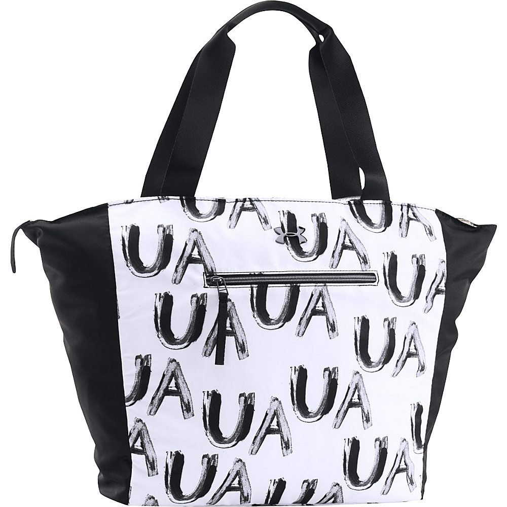 Under Armour To and From Tote Black/White/Metallic Pewter - Painters Print - Under Armour Gym Bags