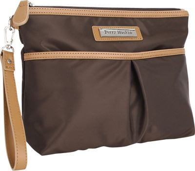 Perry Mackin Carry Cosmetic Bag Brown - Perry Mackin Diaper Bags & Accessories