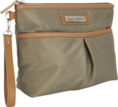 Perry Mackin Carry Cosmetic Bag Olive - Perry Mackin Diaper Bags & Accessories